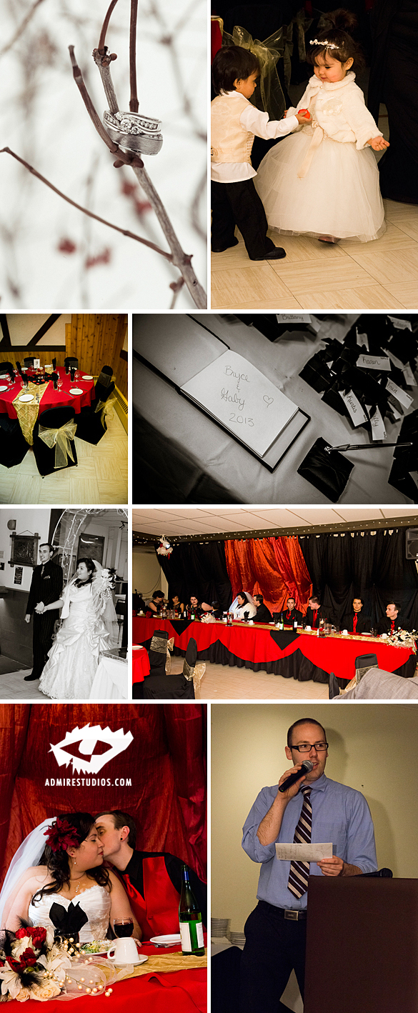 edmonton black and red wedding photos