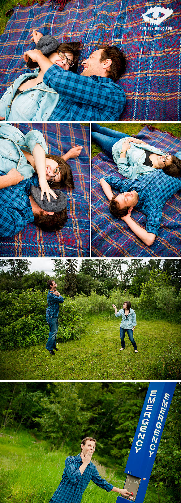 Silly engagement photos