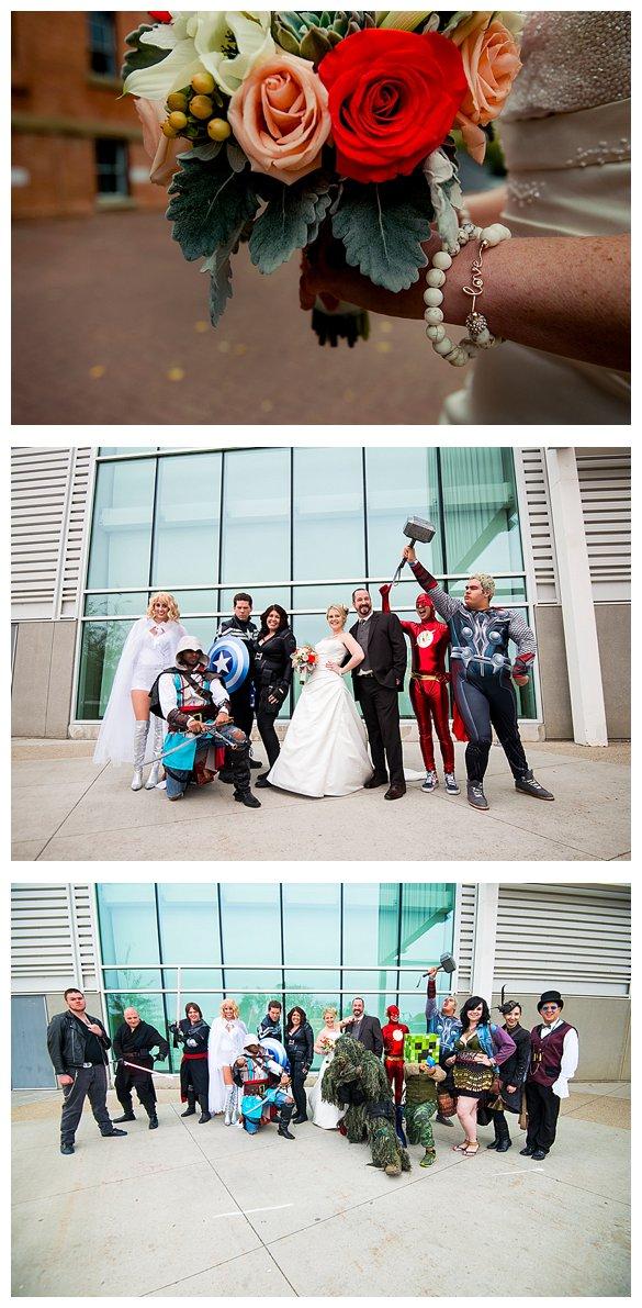 nerdy wedding photos