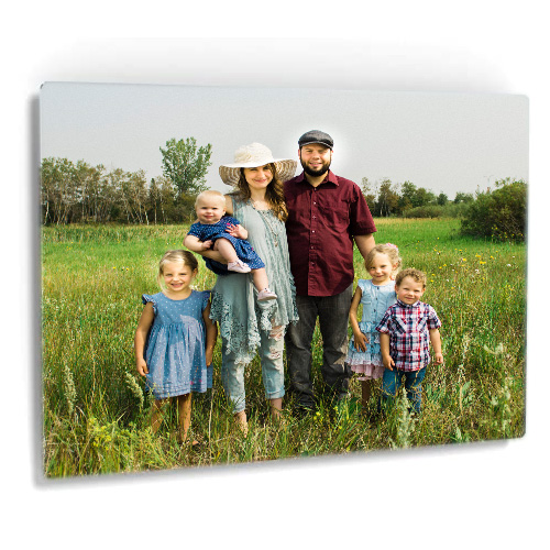 Formal Family Portrait displayed as a metal print product