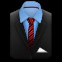 Senior-Portrait-Suit-Red-Stripes-icon