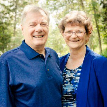 Smiling grandparents