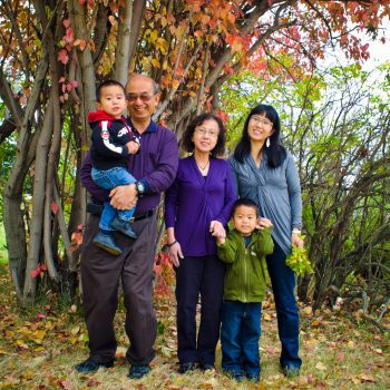 Asian Family with grandparents in Griesbach