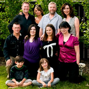 Large extended family with kids, siblings, and grandparents