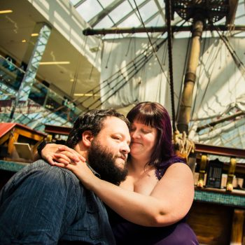 Couples photography on the ship at the West Edmonton Mall